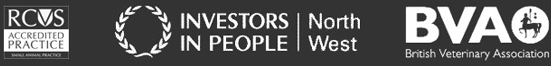 RCVS Accredited / Investors in People North West / BVA